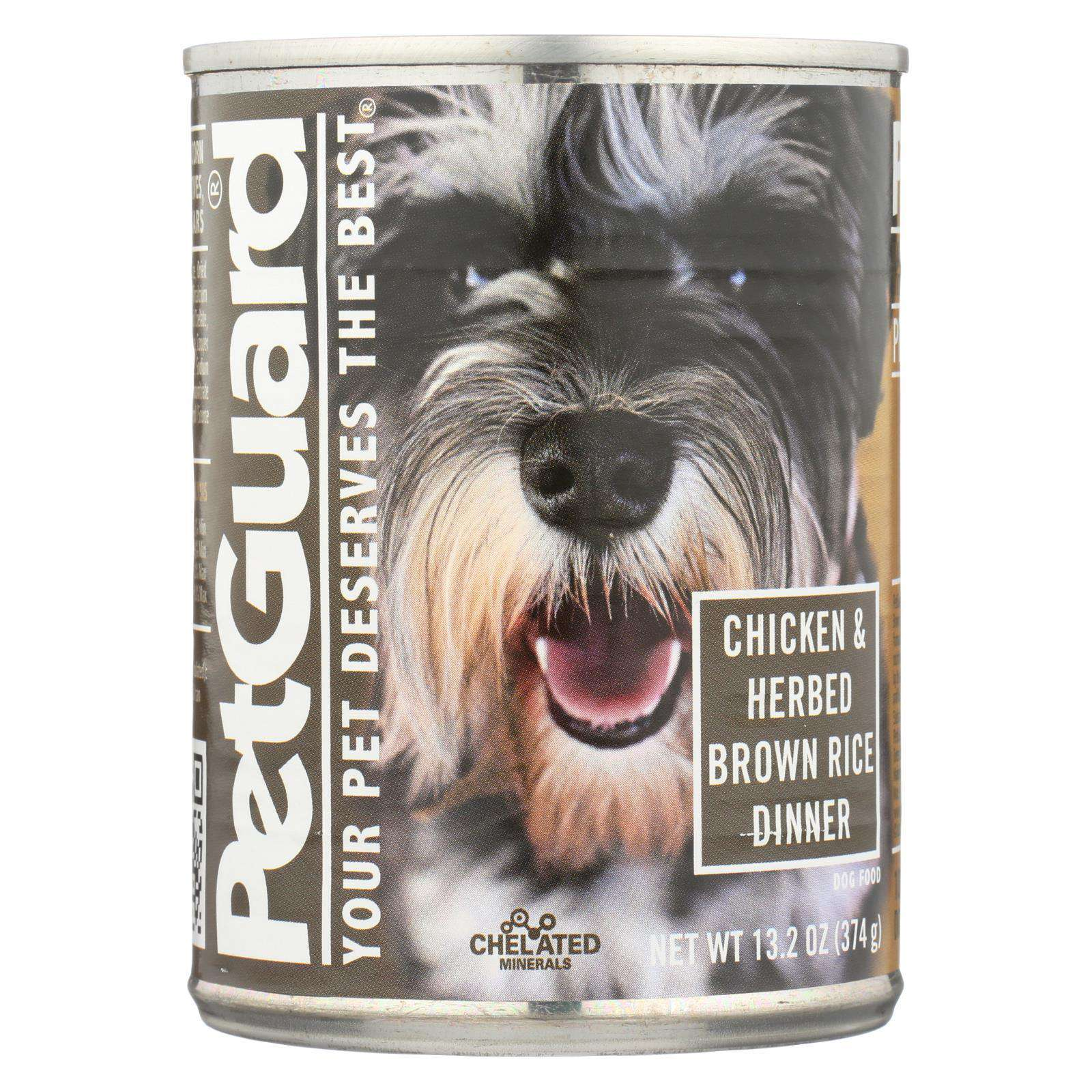 Petguard Canned Dog Foods - Chicken And Herbed Brown Rice - Case Of 12 - 13.2 Oz.-Petguard-DirtyFurClothing