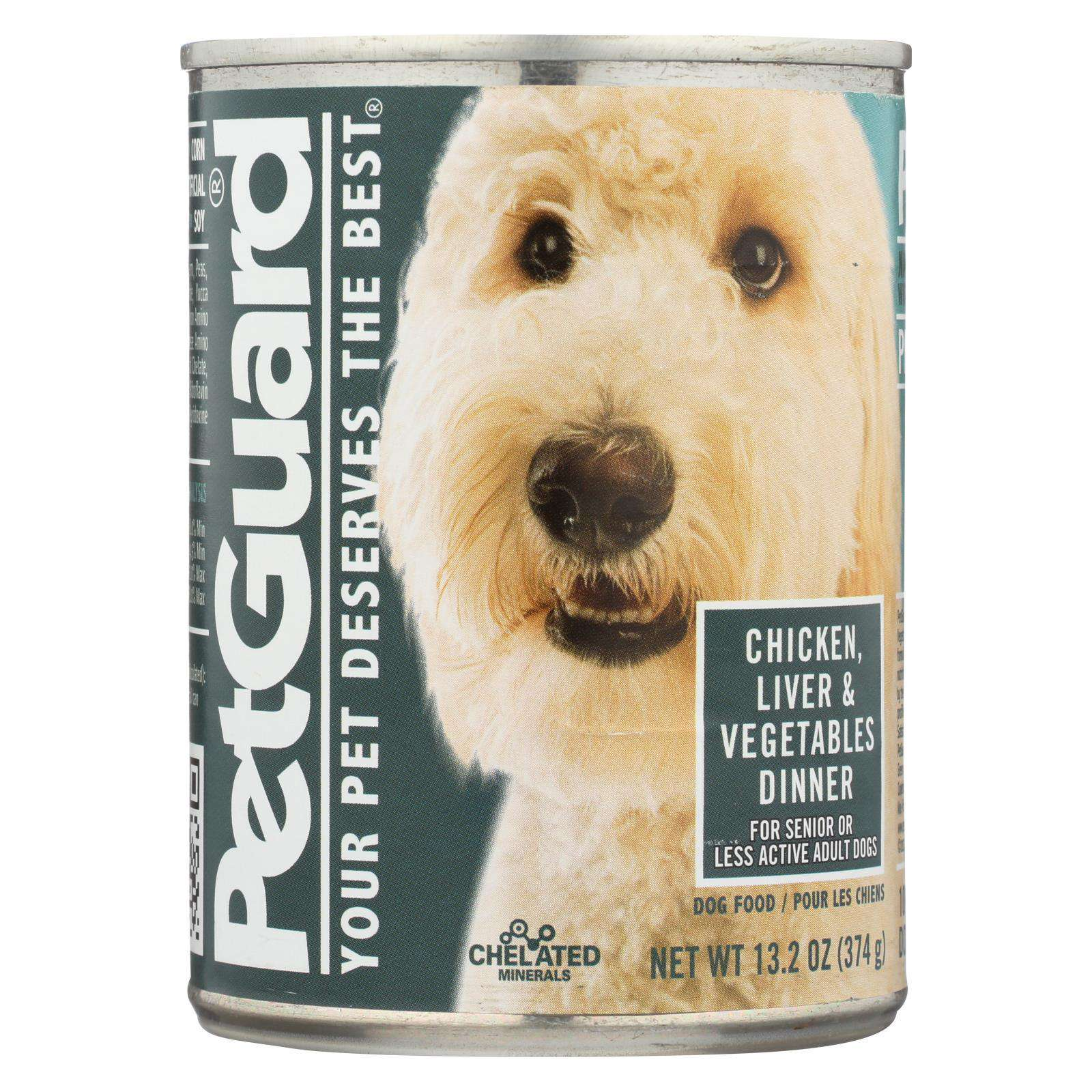 Petguard Canned Dog Foods - Liver, Vegetable And Wheat Germ Dinner - Case Of 12 - 13.2 Oz.-Petguard-DirtyFurClothing