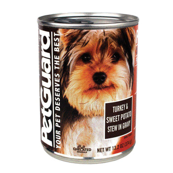 Petguard Canned Dog Foods - Turkey And Sweet Potato Stew In Gravy - Case Of 12 - 13.2 Oz.-Petguard-DirtyFurClothing