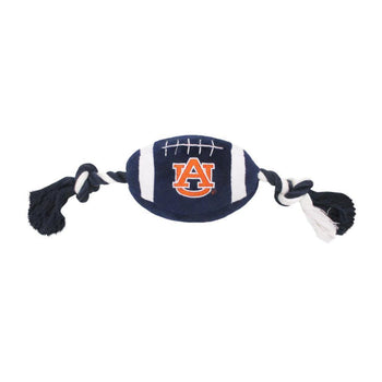 Pets First Sports Team Logo Auburn Plush Football Dog Toy-Pets First-DirtyFurClothing