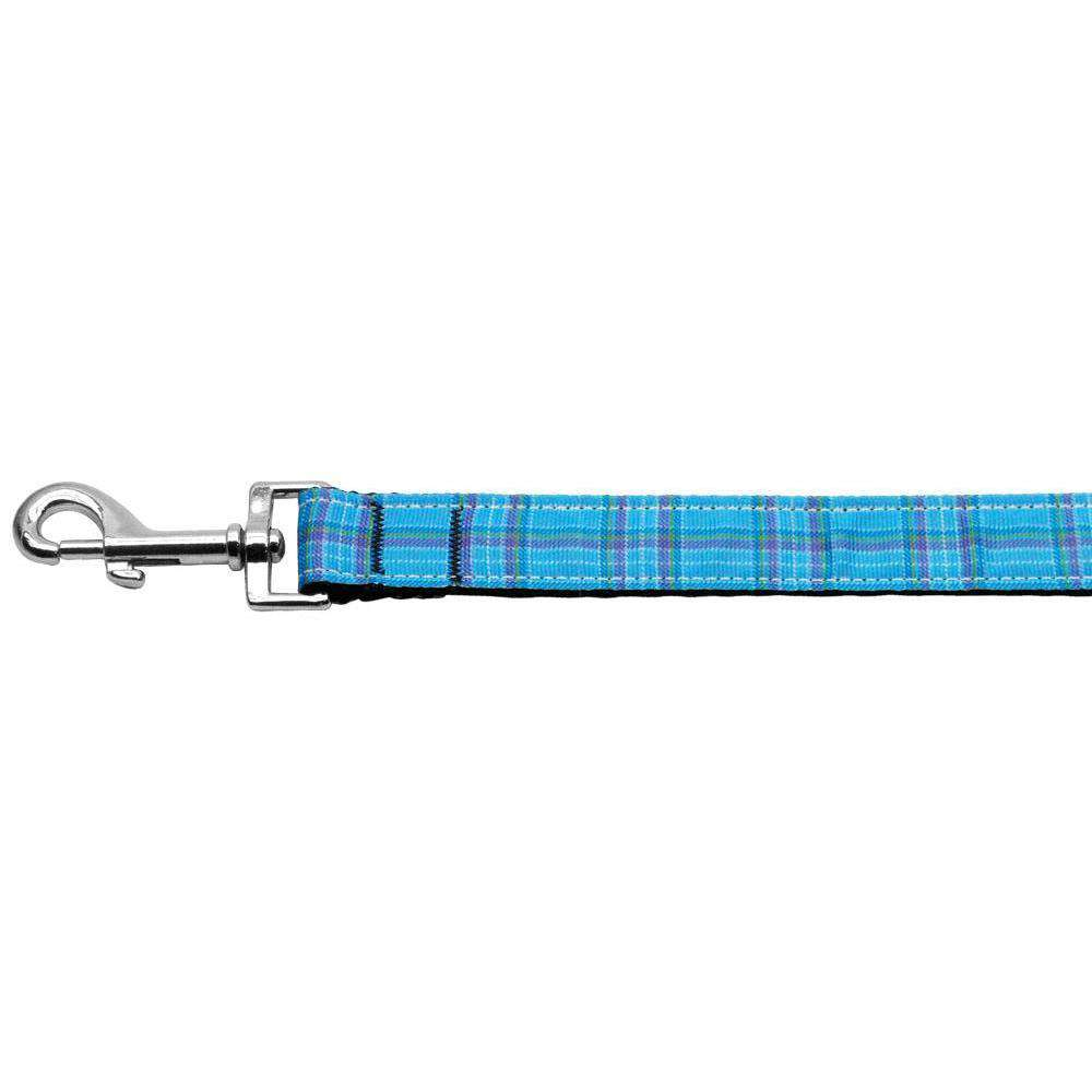 Plaid Nylon Collar Blue 1 Wide 6Ft Lsh-Mirage Pet Products-DirtyFurClothing