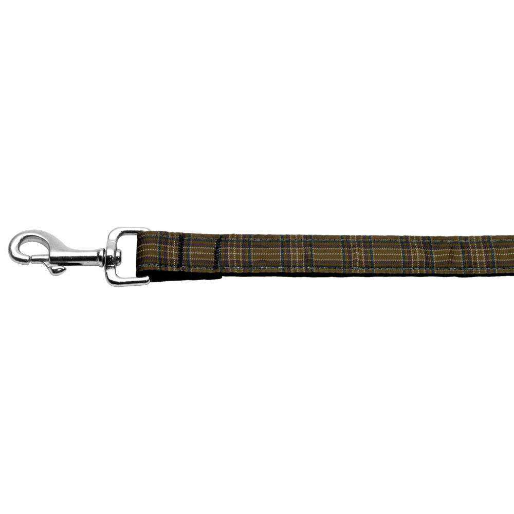 Plaid Nylon Collar Brown 1 Wide 6ft Lsh-Mirage Pet Products-DirtyFurClothing