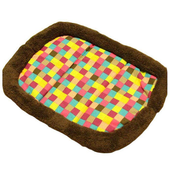 [plaid] Soft Pet Beds Pet Mat Pet Crate Pads Cozy Beds For Dogs-Blancho-DirtyFurClothing