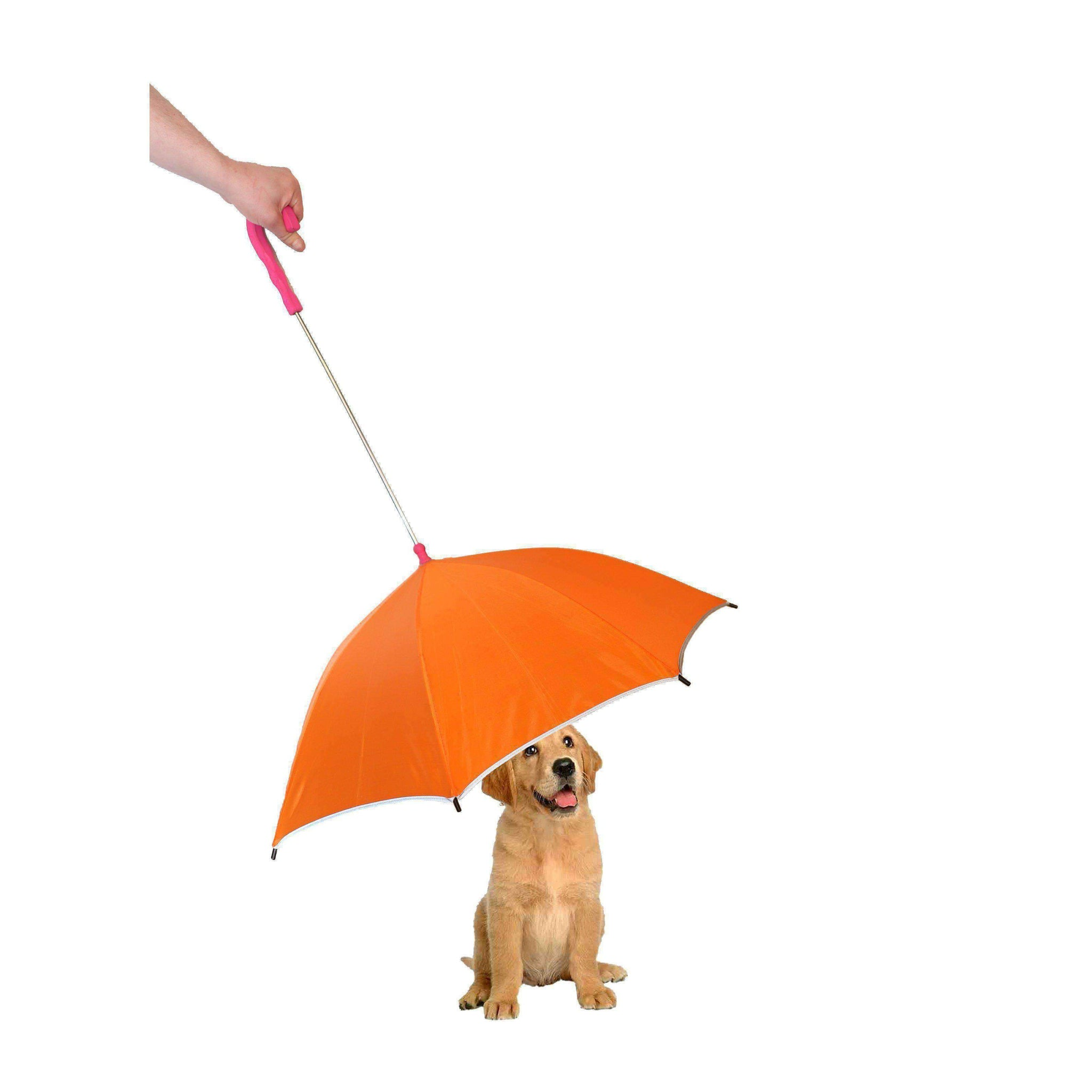 Pour-Protection Umbrella With Reflective Lining And Leash Holder-Pet Life-DirtyFurClothing