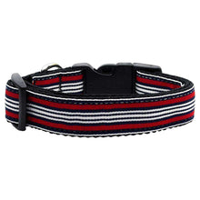 Preppy Stripes Nylon Ribbon Collars Red-white Sm-Mirage Pet Products-DirtyFurClothing