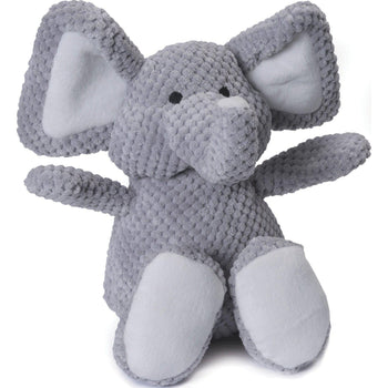 Quaker Pet Group - Godog Checkers Elephant Plush Dog Toy-Quaker Pet Group-DirtyFurClothing