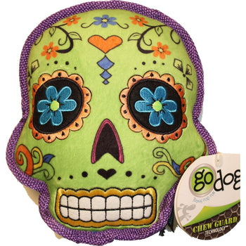 Quaker Pet Group - Godog Sugar Skulls With Chew Guard Dog Toy-Quaker Pet Group-DirtyFurClothing