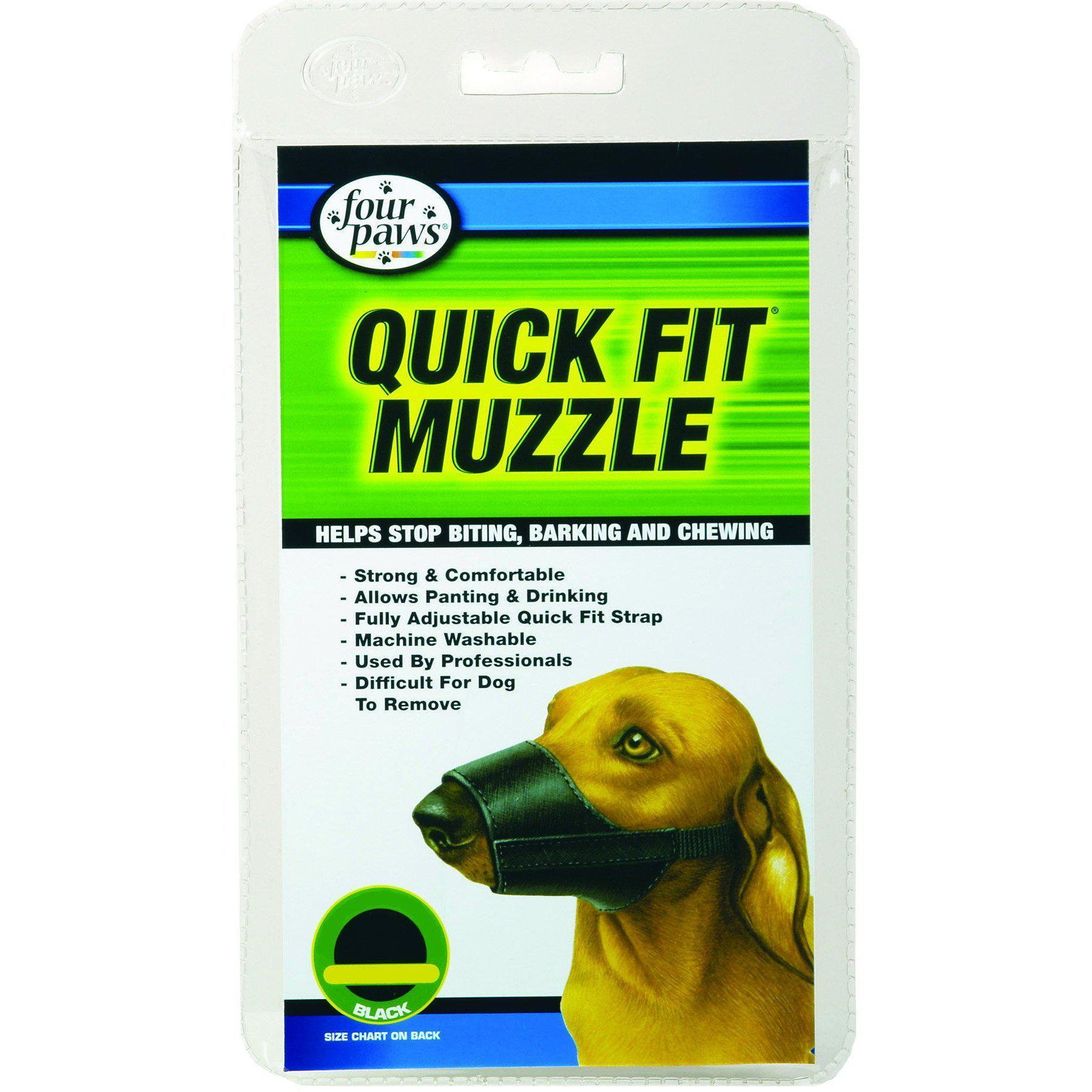 Quick Fit Nylon Dog Muzzle-Four Paws-DirtyFurClothing
