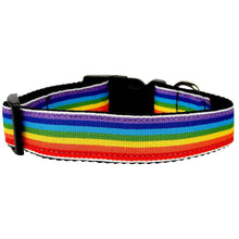 Rainbow Striped Nylon Collars Rainbow Stripes Sm-Mirage Pet Products-DirtyFurClothing