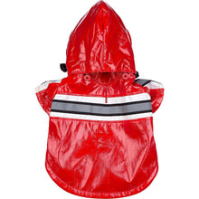 Reflecta-Glow Reflective Waterproof Adjustable Pvc Pet Raincoat - Red-Pet Life-DirtyFurClothing