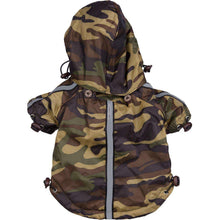 Reflecta-Sport Adustable Reflective Weather-Proof Pet Rainbreaker Jacket - Camouflage-Pet Life-DirtyFurClothing