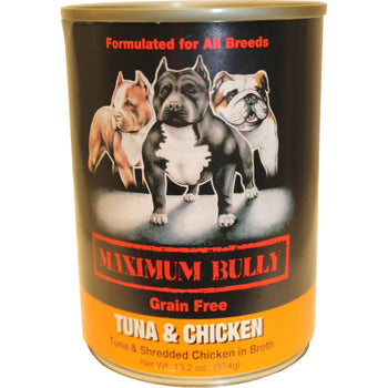Replenish Pet Inc. - Maximum Bully Grain Free Tuna & Chicken Canned Dog Food (Case Of 12 )-Replenish Pet Inc.-DirtyFurClothing