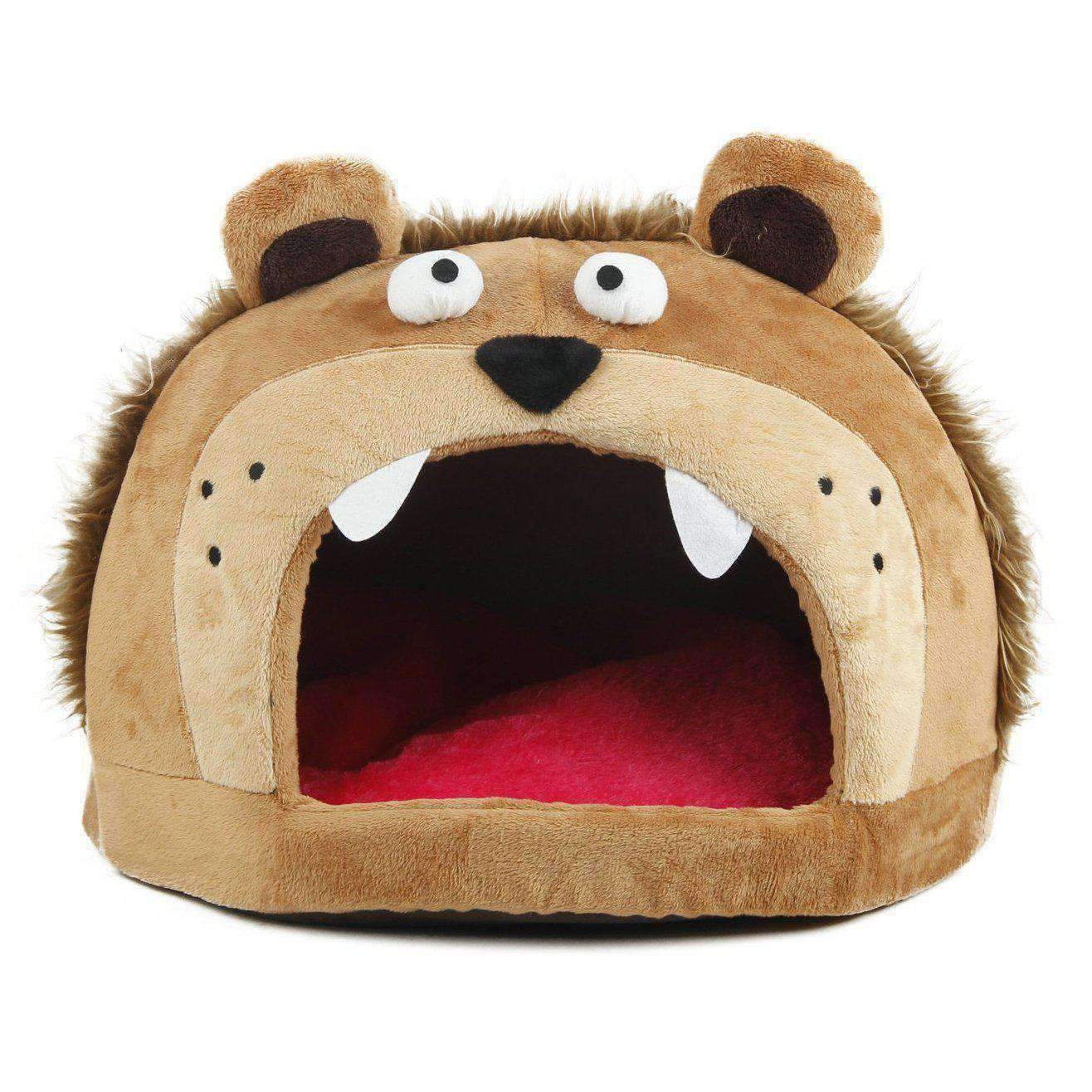 Roar Bear Snuggle Plush Polar Fleece Pet Bed-Pet Life-DirtyFurClothing