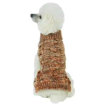 Royal Bark Heavy Cable Knitted Designer Fashion Dog Sweater-Pet Life-DirtyFurClothing