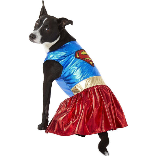 Rubies Classic Pet Supergirl Dress Costume Small-DirtyFurClothing-DirtyFurClothing