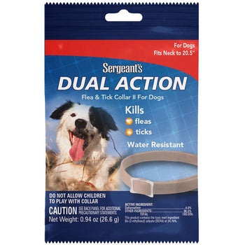 Sergeant's Pet Products P - Sergeants Dual Action Flea & Tick Collar For Dogs-Sergeant's Pet Products P-DirtyFurClothing