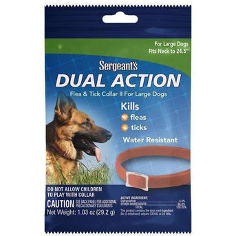 Sergeant's® Dual Action Flea & Tick Collar II for Large Dogs Case Pack 72-Sergeant's(R)-DirtyFurClothing