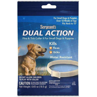 Sergeant's® Dual Action Flea & Tick Collar II for Small Dogs & Puppies Case Pack 72-Sergeant's(R)-DirtyFurClothing
