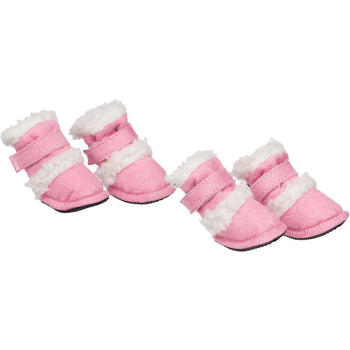 Shearling Duggz Pet Shoes - Pink & White-Pet Life-DirtyFurClothing