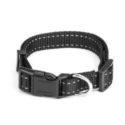 Smal Black Adjustable Reflective Collar-DirtyFurClothing-DirtyFurClothing