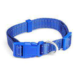 Small Blue Adjustable Reflective Collar-DirtyFurClothing-DirtyFurClothing
