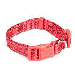 Small Red Adjustable Reflective Collar-DirtyFurClothing-DirtyFurClothing