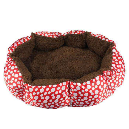 Soft Fleece Pet Dog Puppy Warm Bed House Plush Cozy Nest Mat Pad Red-DirtyFurClothing-DirtyFurClothing