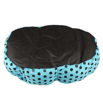 Soft Fleece Plush Warm And Cozy Dog Bed - Blue-DirtyFurClothing-DirtyFurClothing