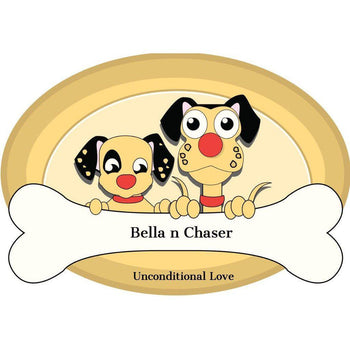 Spacious Stainless Steel Dog Bowl Bonded Fusion Pink Base By Bella N Chaser-Bella N Chaser-DirtyFurClothing
