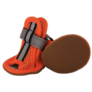Sporty-Supportive Mesh Pet Sandals Shoes - Set Of 4 - Orange-Pet Life-DirtyFurClothing