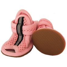 Sporty-Supportive Mesh Pet Sandals Shoes - Set Of 4 - Pink-Pet Life-DirtyFurClothing