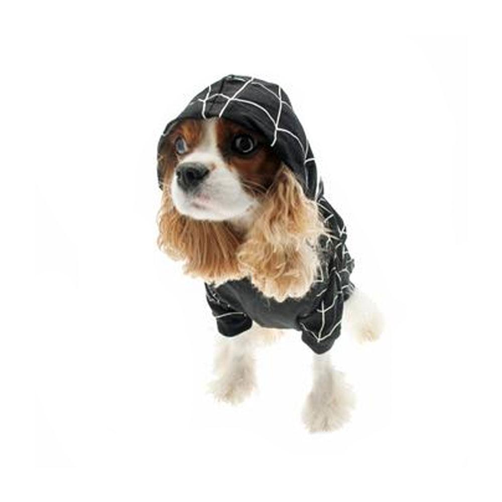 Superhero Dog Costume - Black Spider Dog-DirtyFurClothing-DirtyFurClothing