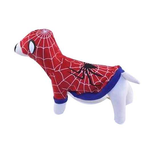 Superhero Dog Costume - Red Spider Dog-DirtyFurClothing-DirtyFurClothing