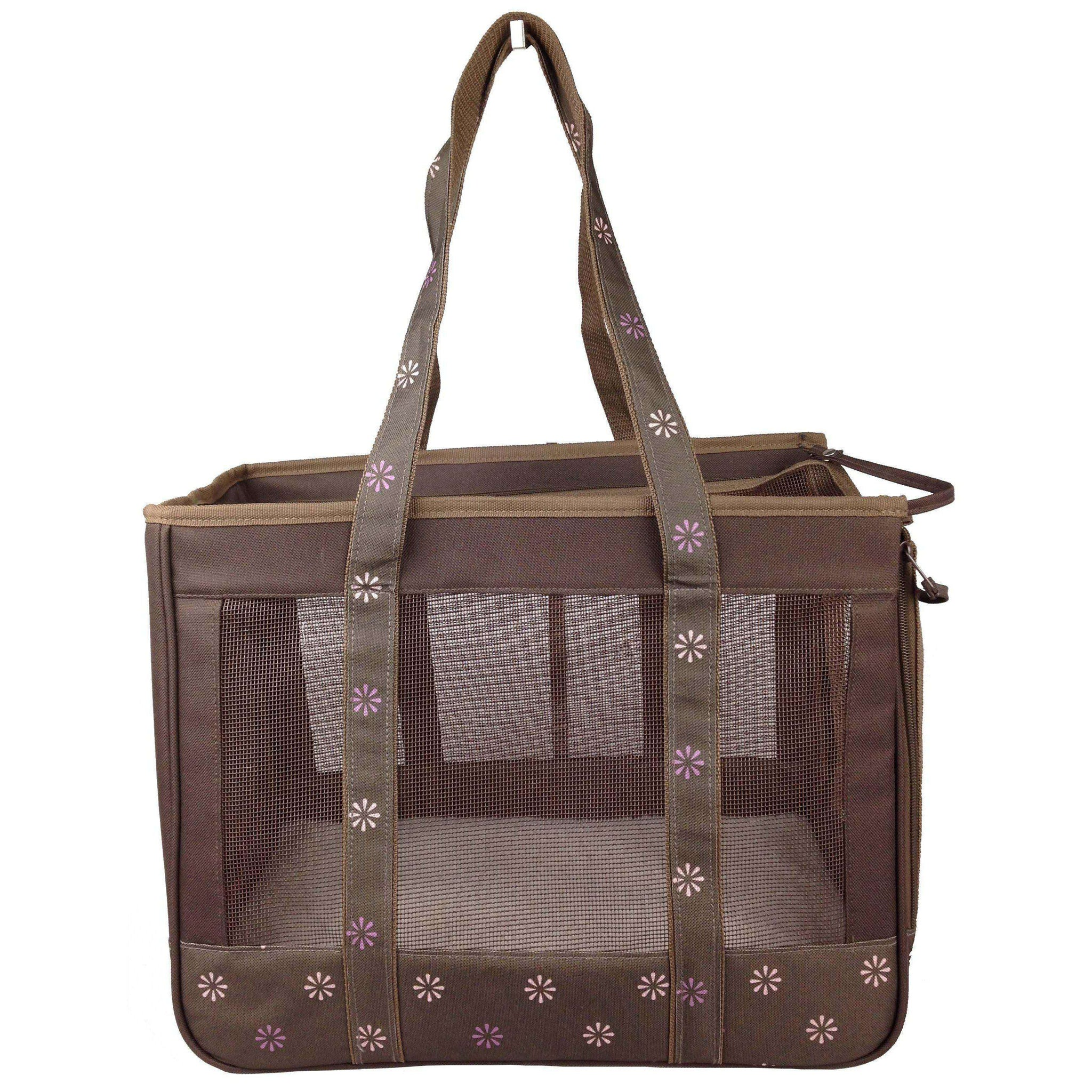 Surround View' Posh Fashion Pet Carrier- Cocoa Brown-Pet Life-DirtyFurClothing