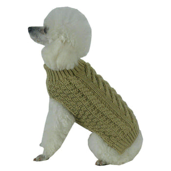 Swivel-Swirl Heavy Cable Knitted Fashion Designer Dog Sweater-Pet Life-DirtyFurClothing
