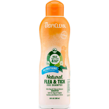 Tc Natural Flea And Tick Shampoo Plus Soothing-Tropiclean-DirtyFurClothing