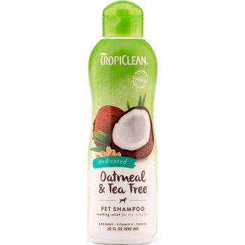Tc Oatmeal And Tea Tree Medicated Pet Shampoo-Tropiclean-DirtyFurClothing