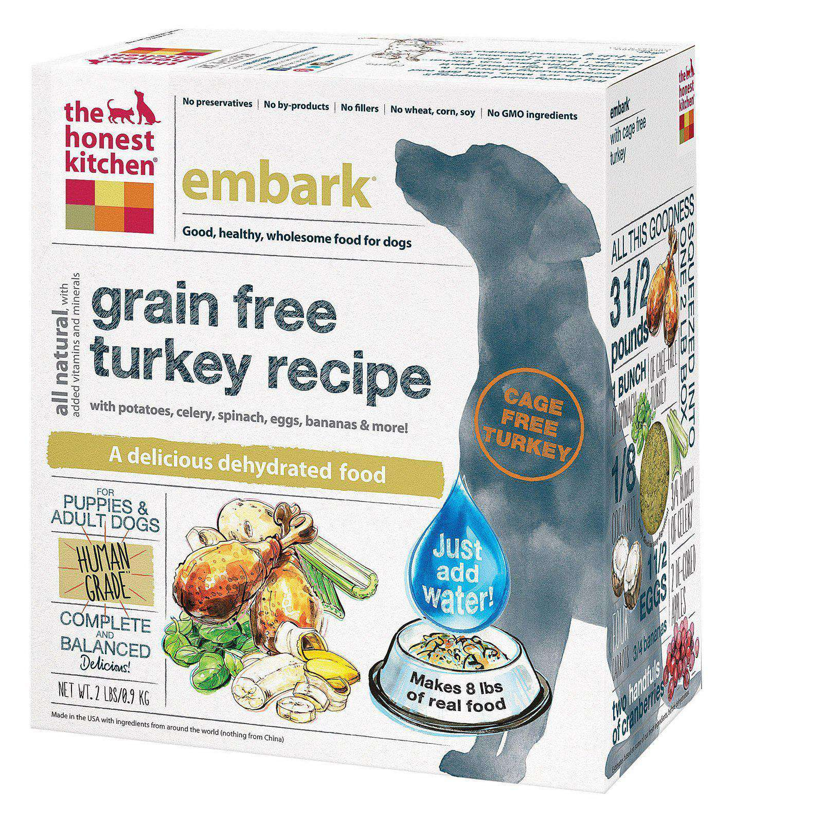 The Honest Kitchen Embark - Grain-Free Turkey Dog Food - Case Of 6 - 2 Lb.-The Honest Kitchen-DirtyFurClothing