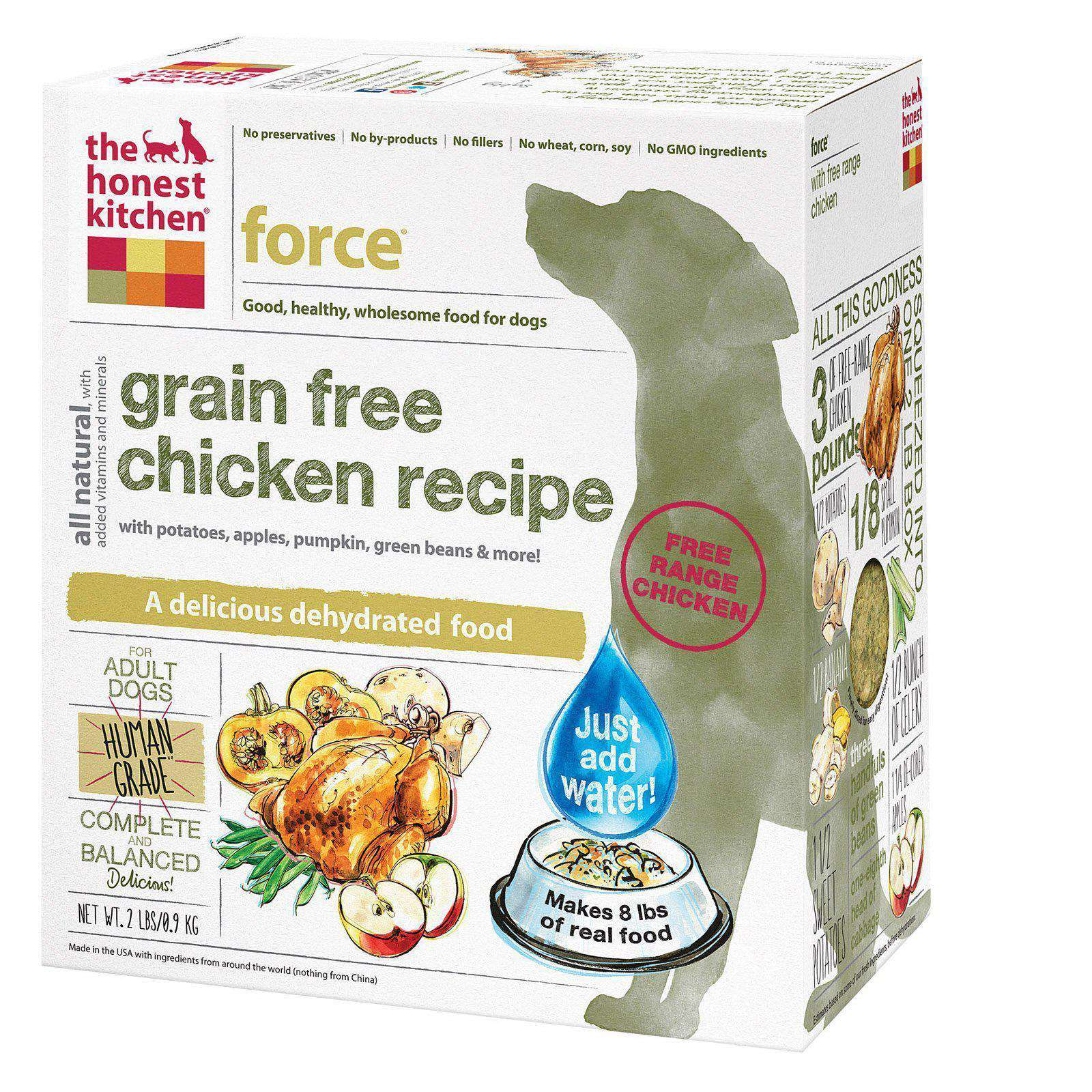 The Honest Kitchen Force - Grain-Free Chicken Dog Food - Case Of 6 - 2 Lb.-The Honest Kitchen-DirtyFurClothing