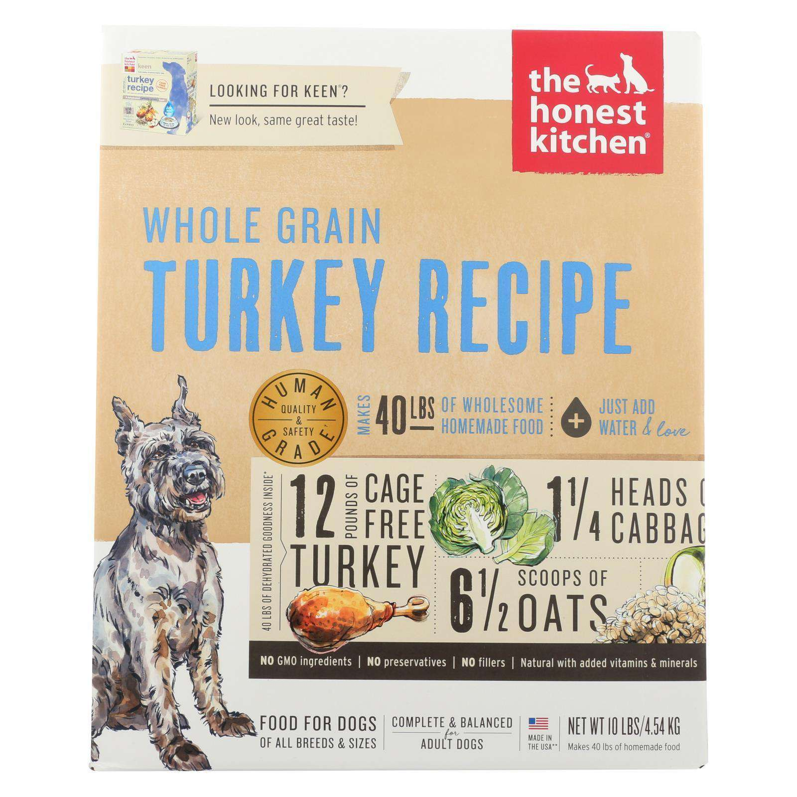 The Honest Kitchen Keen Dehydrated Dog Food Turkey Recipe - 10 Lb.-The Honest Kitchen-DirtyFurClothing