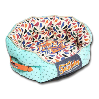 Touchdog Chirpin-Avery Rounded Premium Designer Dog Bed-Touchdog-DirtyFurClothing