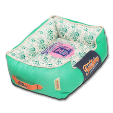 Touchdog Floral-Galore Vintage printed Ultra-Plush Rectangular Designer Dog Bed-Touchdog-DirtyFurClothing