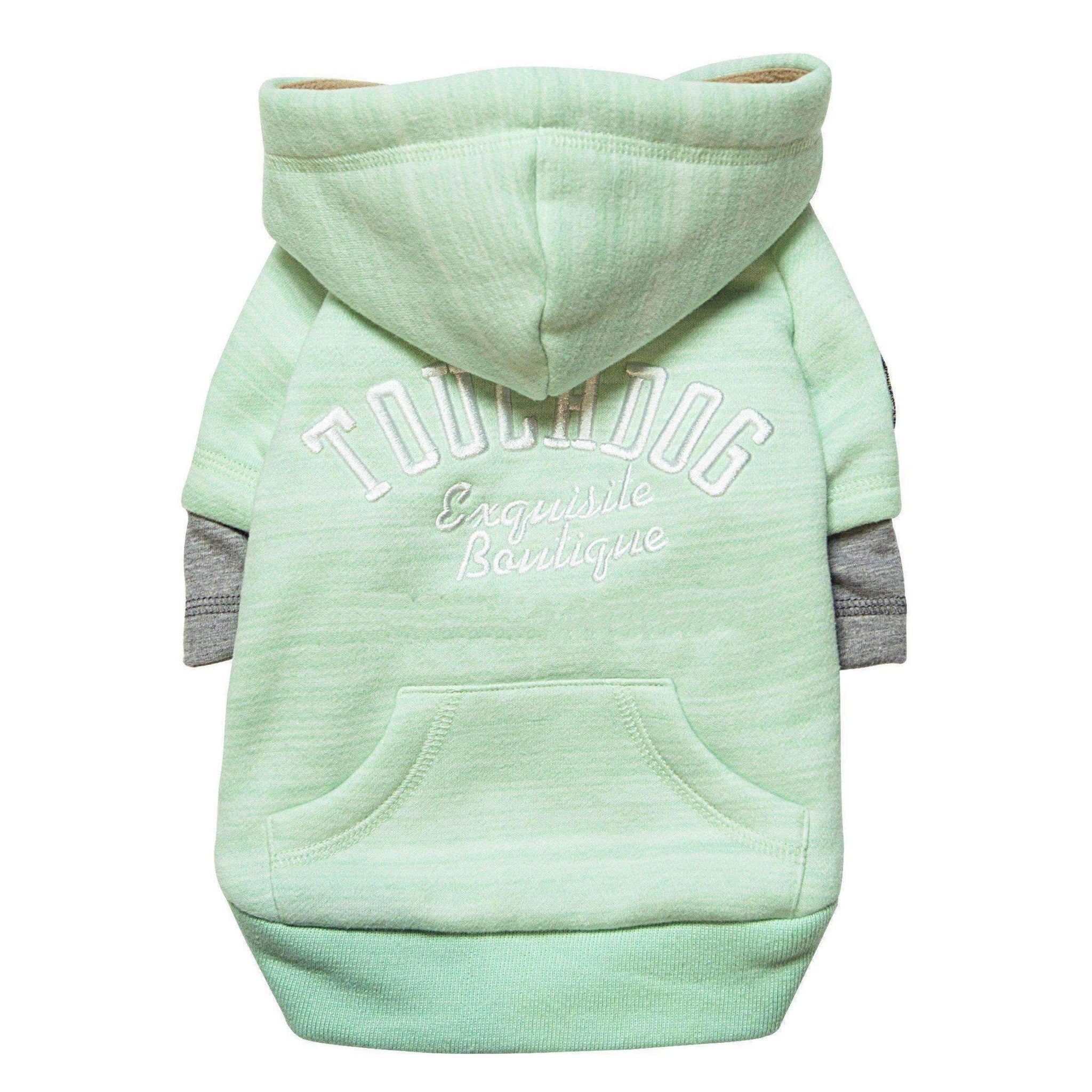 Touchdog Hampton Beach Designer Ultra Soft Sand-Blasted Cotton Pet Dog Hoodie Sweater - Green-Touchdog-DirtyFurClothing