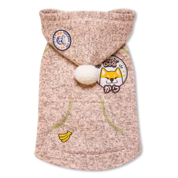 Touchdog Hippie Embellished Designer Sleeveless Pompom Pet Dog Hooded Sweater-Touchdog-DirtyFurClothing