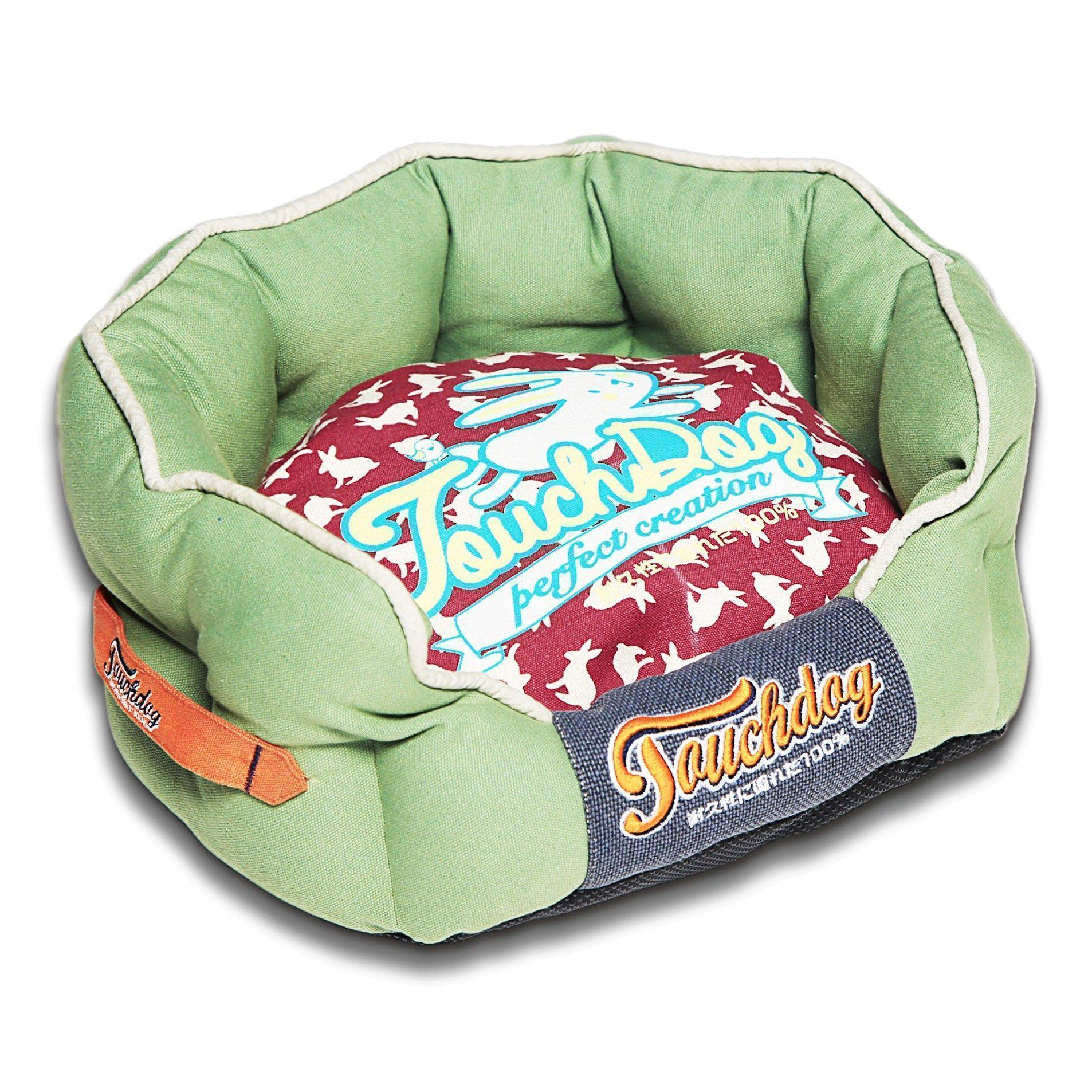 Touchdog Rabbit-Spotted Premium Rounded Dog Bed-Touchdog-DirtyFurClothing