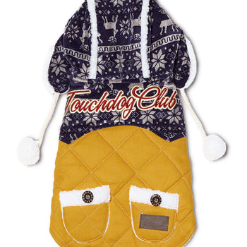 Touchdog Snowadayz Pom Pom Pet Hooded Sweater-Touchdog-DirtyFurClothing