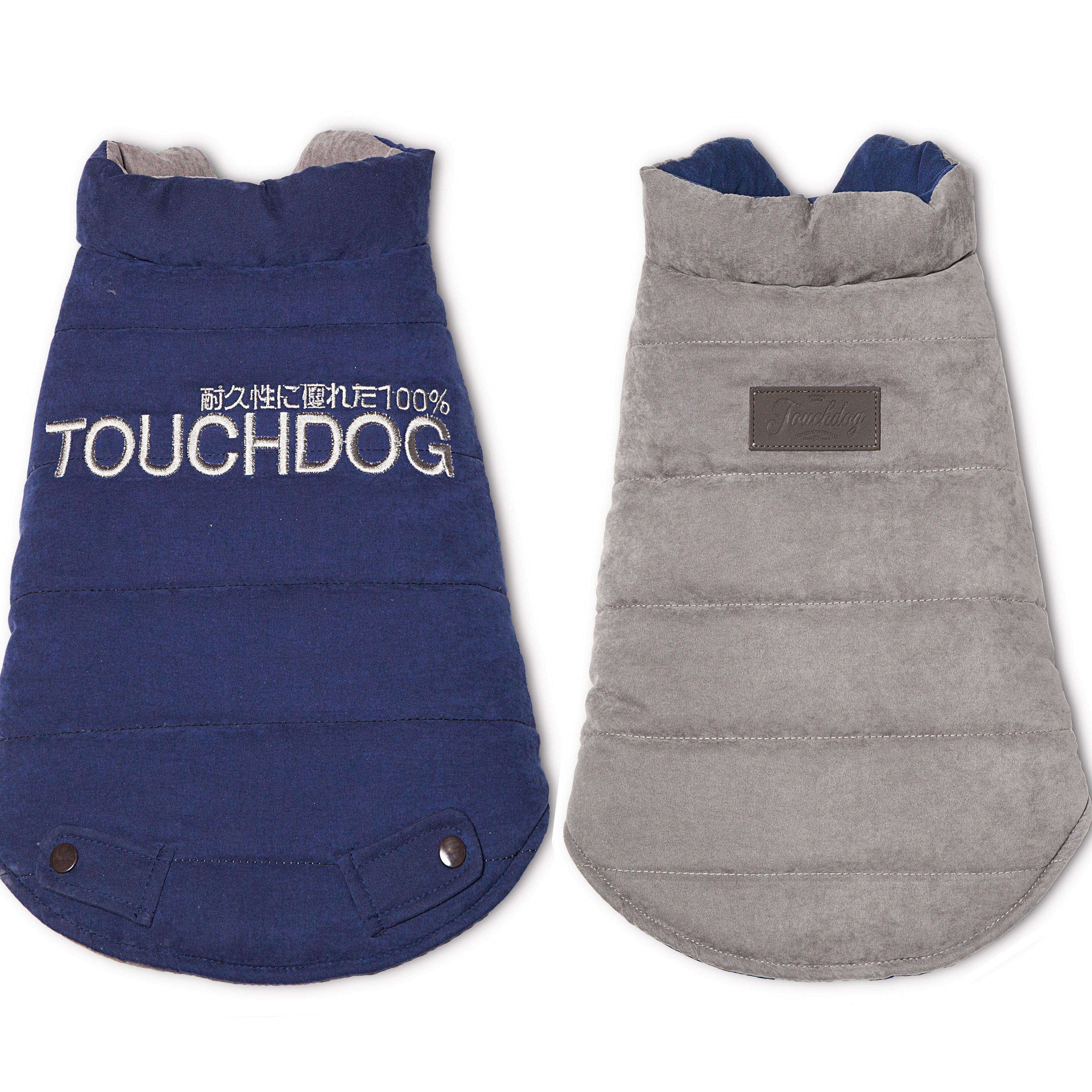 Touchdog Waggin Swag Reversible Insulated Pet Coat-Touchdog-DirtyFurClothing