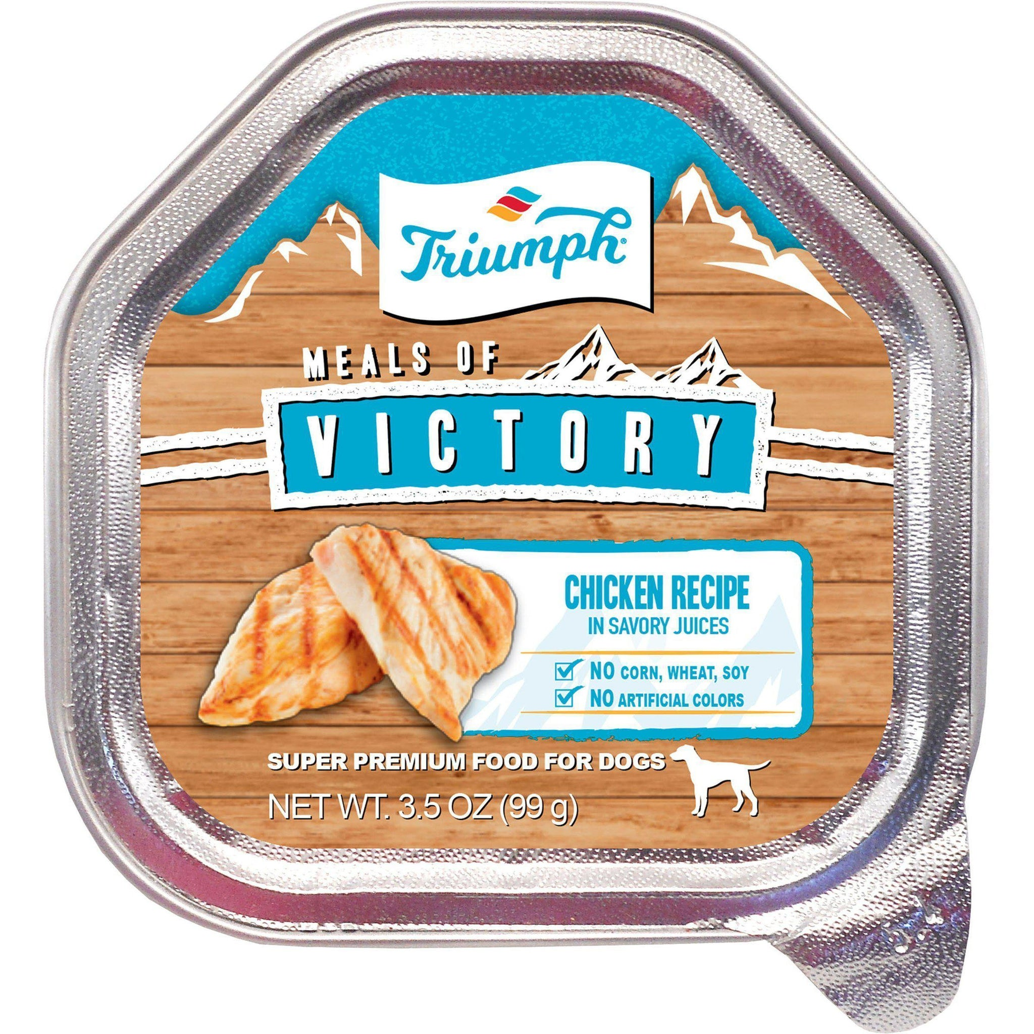 Triumph Pet Industries - Triumph Victory Wet Cup Dog Food With Chicken Recipe In Savory Juices (Case Of 15 )-Triumph Pet Industries-DirtyFurClothing