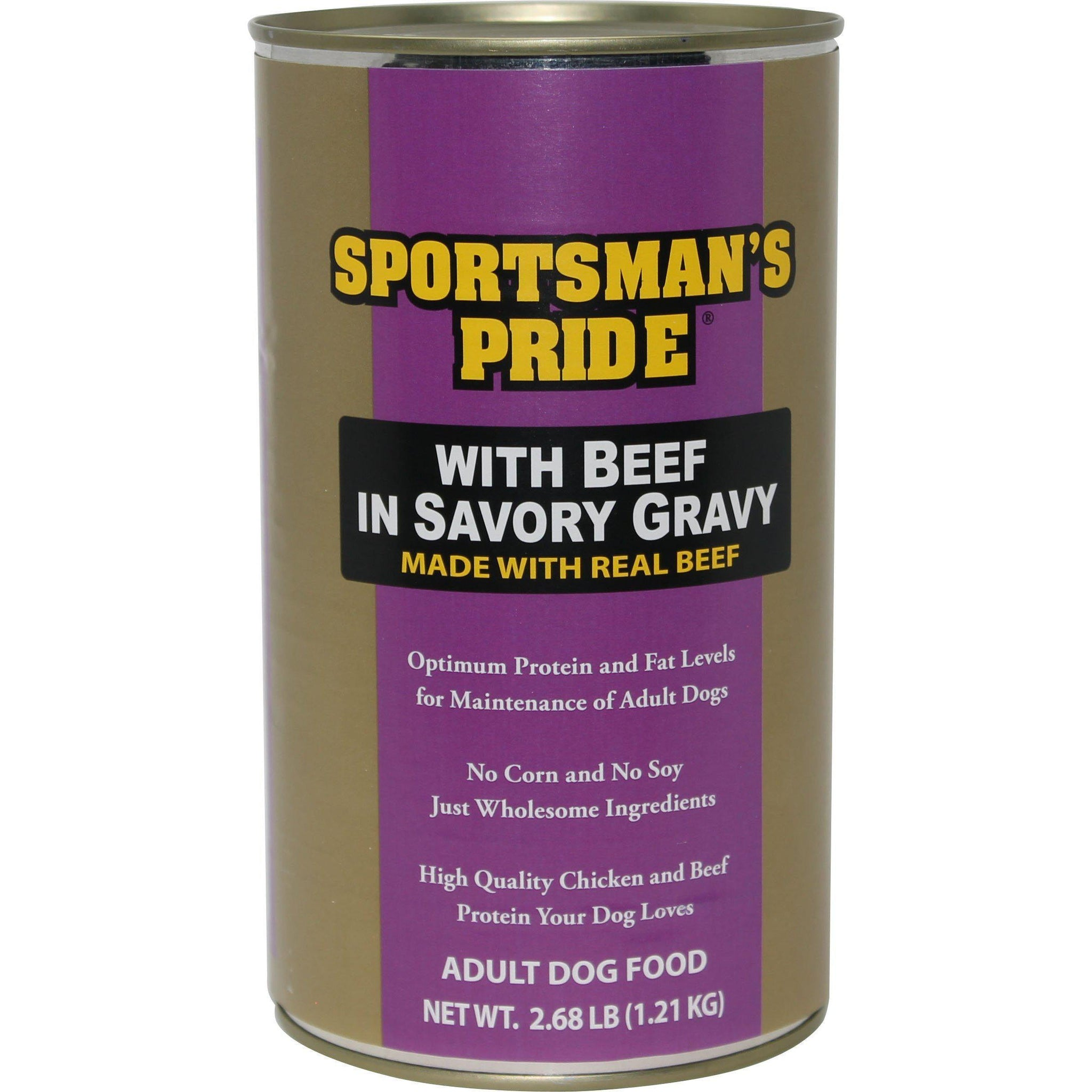 Triumph Pet - Sportsmans - Sportsman'S Pride Canned Dog Food With Beef In Savory Gravy (Case Of 6 )-Triumph Pet - Sportsmans-DirtyFurClothing
