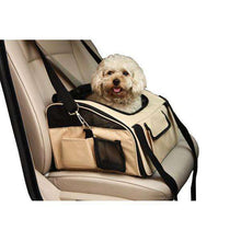 Ultra-Lock' Collapsible Safety Travel Wire Folding Pet Car Seat Carrier-Pet Life-DirtyFurClothing